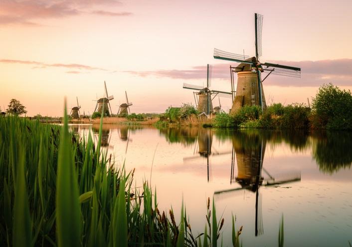 Unesco World Heritage sites in Nederland kinderdijk